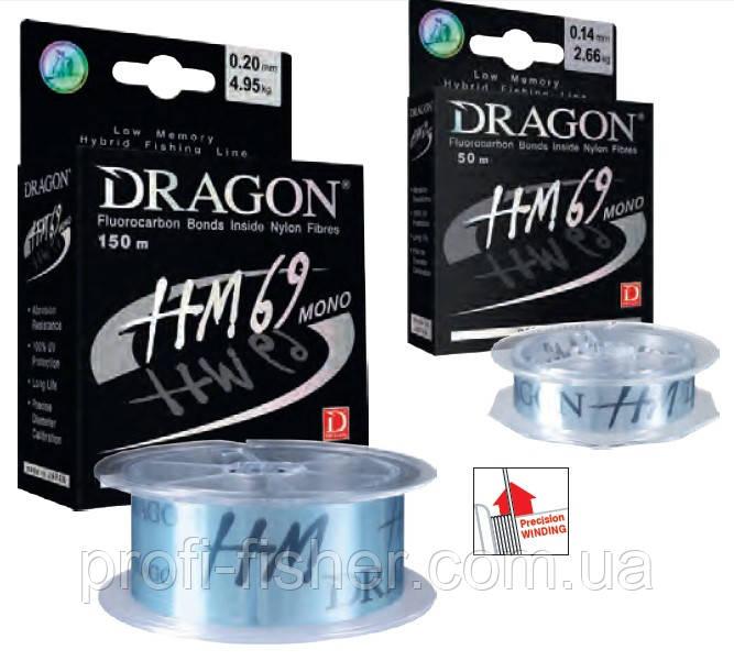 Волосінь Dragon HM69 Pro 150m 0.282 мм/8,65 kg