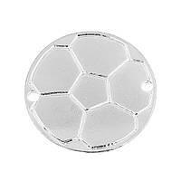 Коннектор Футбольный мяч, Круглый, Цинковый сплав, Серебро, Футбол, 3.1 см