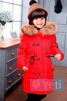 Пуховик для девочек Yeti (YT-510 Red)