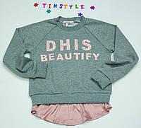 Стильный модный  свитшот   на девочку рост 128-134 см