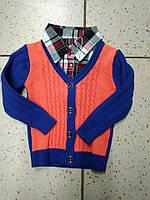 Стильный теплый свитер-обманка на мальчика