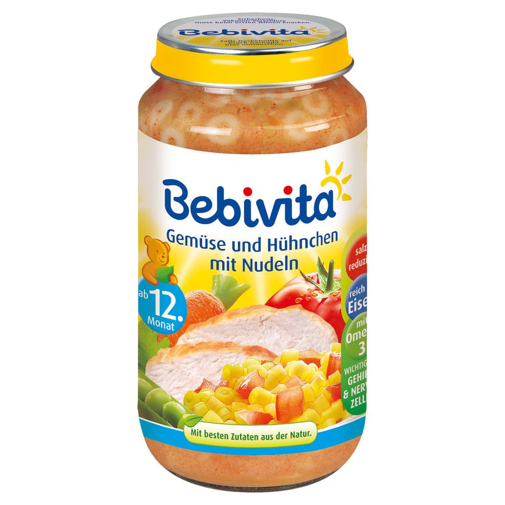 Bebivita  Menü Gemüse & Hühnchen mit Nudeln - овощи и курица с лапшой от 12 месяцев 250 г
