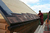 Монтаж битума на крыше