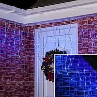 Гирлянда Бахрома 3 х 0.6 м. уличная / Premium Light IP54 200LED средний провод Синий