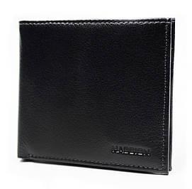 Компактный мужской кошелек в черном цвета  HASSION (H-094B)