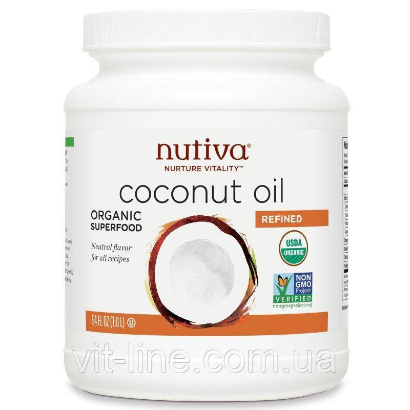Nutiva, Рафинированное кокосовое масло без кокосового вкуса или запаха