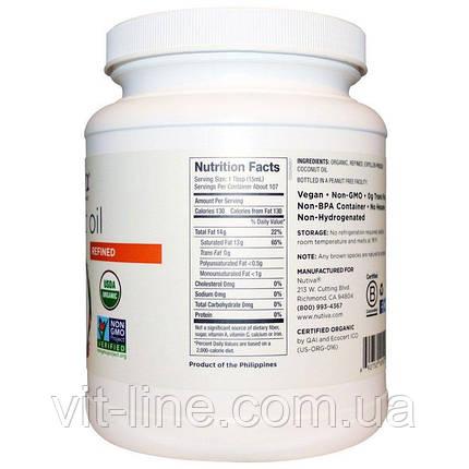Nutiva, Рафинированное кокосовое масло без кокосового вкуса или запаха, фото 2