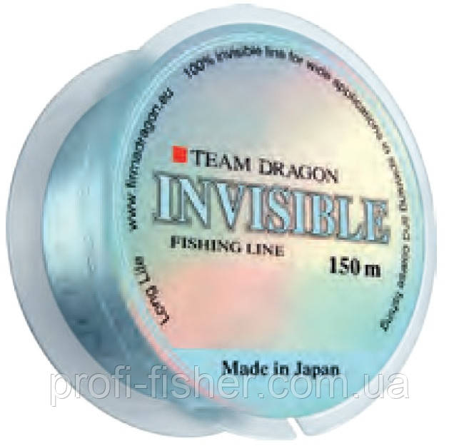 Леска Dragon TEAM INVISIBLE 150m 0.25mm/7.20kg