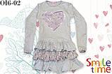 Платье трикотажное для девочки  SmileTime Love Bird, серое, фото 2