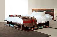 """Двуспальная кровать из дерева  """"Ибица"""""""