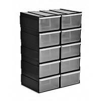Выдвижные ящики,емкости выдвижные для инструментов (комплект 10 шт.), 190х105х225мм, Technics стенд выдвижной
