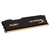 Оперативная память для компьютера 4Gb DDR3, 1600 MHz (PC3-12800), Kingston HyperX Fury Black, 10-10-10-28, 1.35V, с радиатором (HX316LC10FB/4)