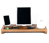 Подставка - органайзер для гаджетов «Wooden Stand 2В из дерева