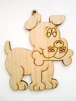 """Новогодние сувениры, елочные игрушки """"Собачка с косточкой"""""""