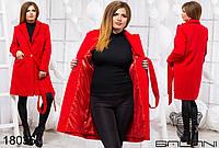 Элегантное кашемировое  пальто на поясе  Размер:(48-50), (50-52),  (52-56)