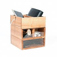 Настольный органайзер «Eco Wood» из дерева 3 в 1
