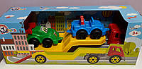 Машина пластмассовая для малышей Автовоз с машинками В коробке 3909+ Технокомп Украина