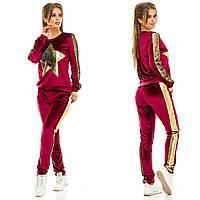 Женский бархатный спортивный костюм жа258