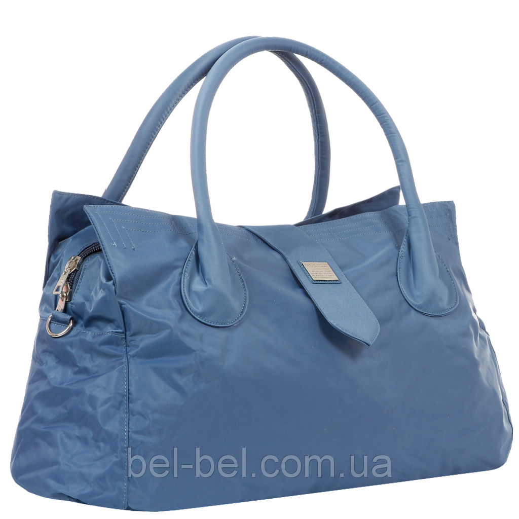 Дорожная большая спортивная сумка текстильная синяя Эпол 23601 (Epol) , 57*30*24 см, Синий
