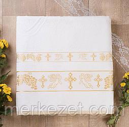 """Махровое полотенце для крестин. Крыжма """"Ангел Мира"""""""