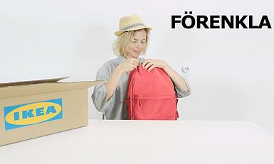 Рюкзак ИКЕА ФОРЕНКЛА видео обзор на удобный стильный рюкзак сумка IKEA FÖRENKLA