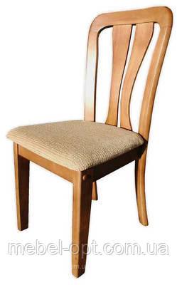 Деревянный стул с мягким сидением, чайный цвет, WX09 (Аналог 052)