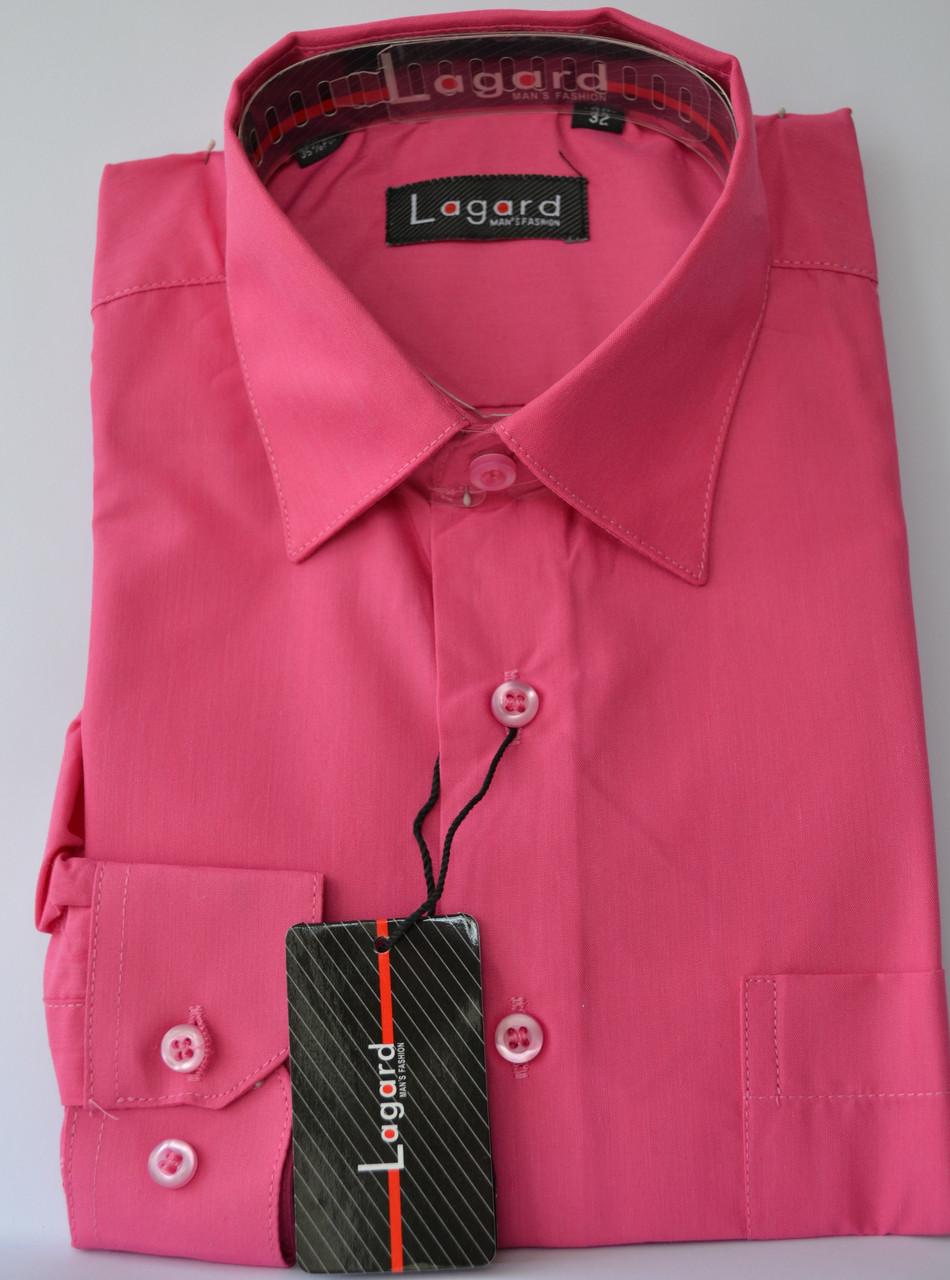 Малиновая детская  рубашка LAGARD (размеры 32,33+12,14,16)