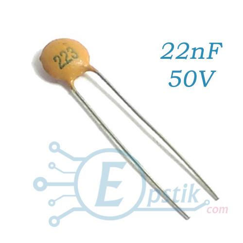 Конденсатор 22nF, (223), ±10% 50V X7R