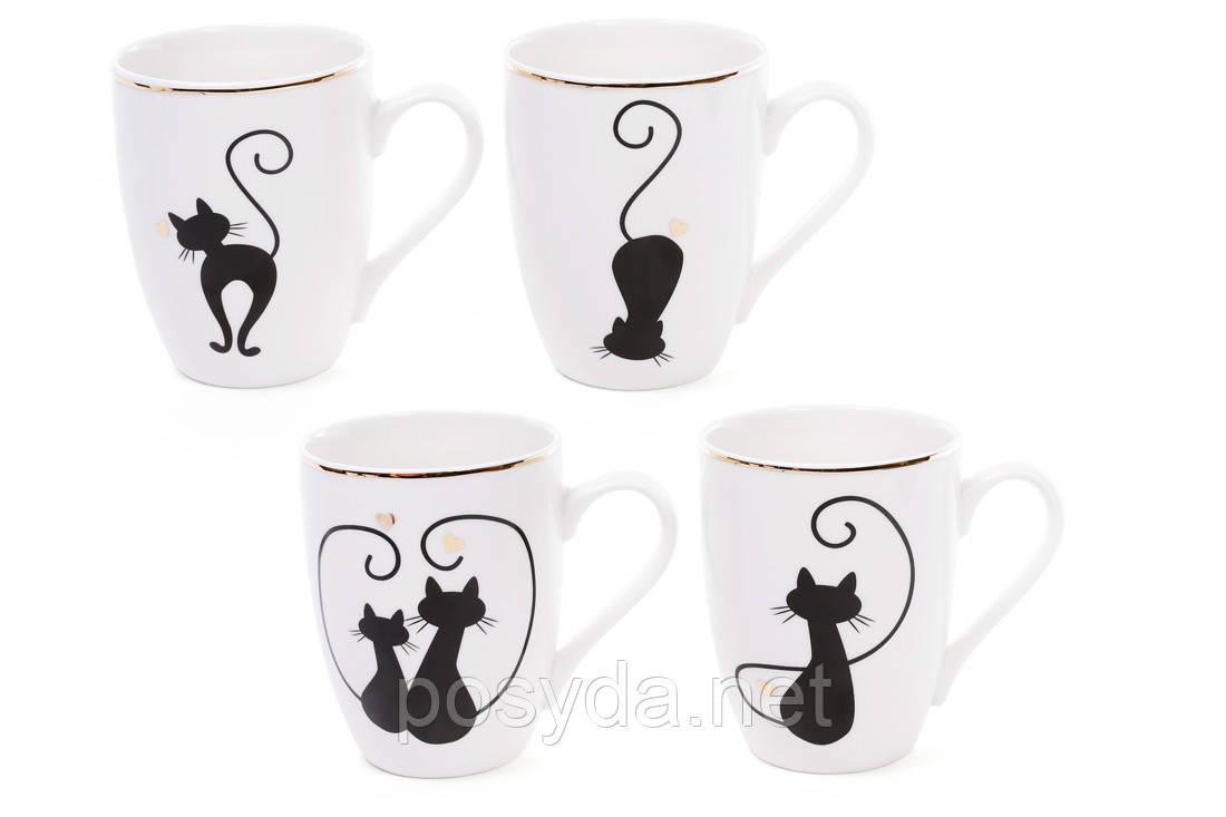 """Чашка фарфоровая """"Влюбленные коты"""",320мл"""