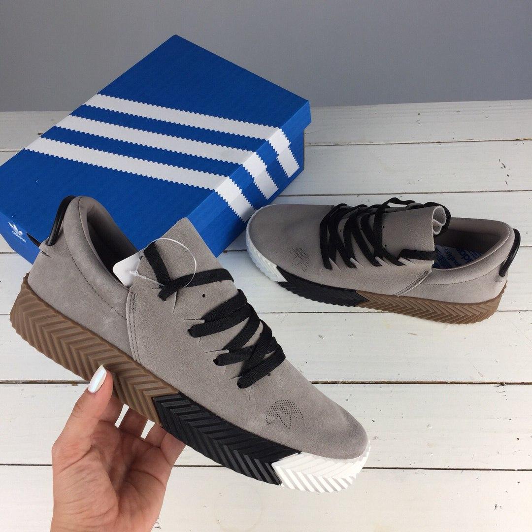 Кроссовки Adidas x Alexander Wang gray. Живое фото! Топ качество! (Реплика ААА+)