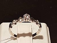 Серебряное кольцо с фианитами. Артикул 10001р, фото 1