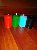 Свечи восковые цилиндр(цвет под заказ)