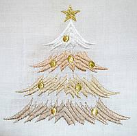 Скатерть новогодняя золотая ёлка 140х160 Ewax