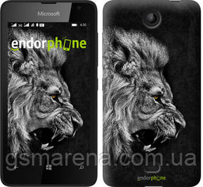 "Чехол на Microsoft Lumia 430 Лев ""1080u-153-7794"""