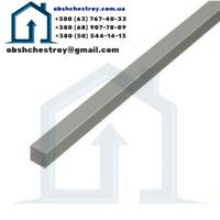 Алюминиевый профиль пруток  квадратный 10х10 / анодированный