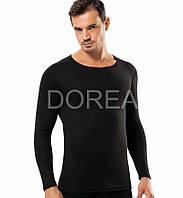 Мужская термокофта с длинным рукавом чёрная, Dorea D3024