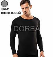 Мужская термокофта с длинным рукавом, тёмно-серая, Dorea D3024