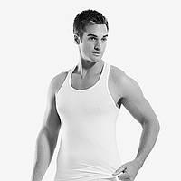 Майка мужская борцовка Elegant белая Oztas Y1904