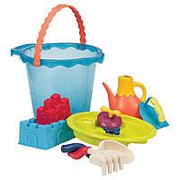 Набор для игры с песком и водой Мега-ведерце Море 9 предметов Battat (BX1444Z), фото 1