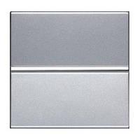 Кнопочный выключатель 1 кл. ABB Zenit Серебро N2104.7 PL