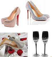 Украшение обуви и бокалов