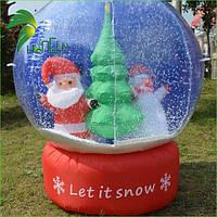 """Надувная новогодняя фигура шар """"Дед Мороз и Снеговик"""", высота 100 см"""