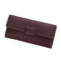 Женский кошелек портмоне бордовый, фото 1