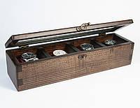 Шкатулка из дерева «Wooden Case» для наручных часов ручной работы
