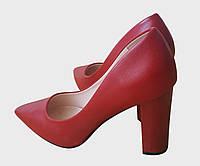 Туфли лодочки красные