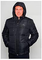 Черная зимняя мужская куртка с капюшоном SK-283-3