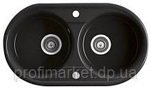 Кухонна мийка подвійна Ferro Bizzy 78x45 Графіт