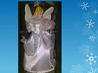 Ангел-верхушка в белой одежде, h = 20см, в целлулоидной тубе