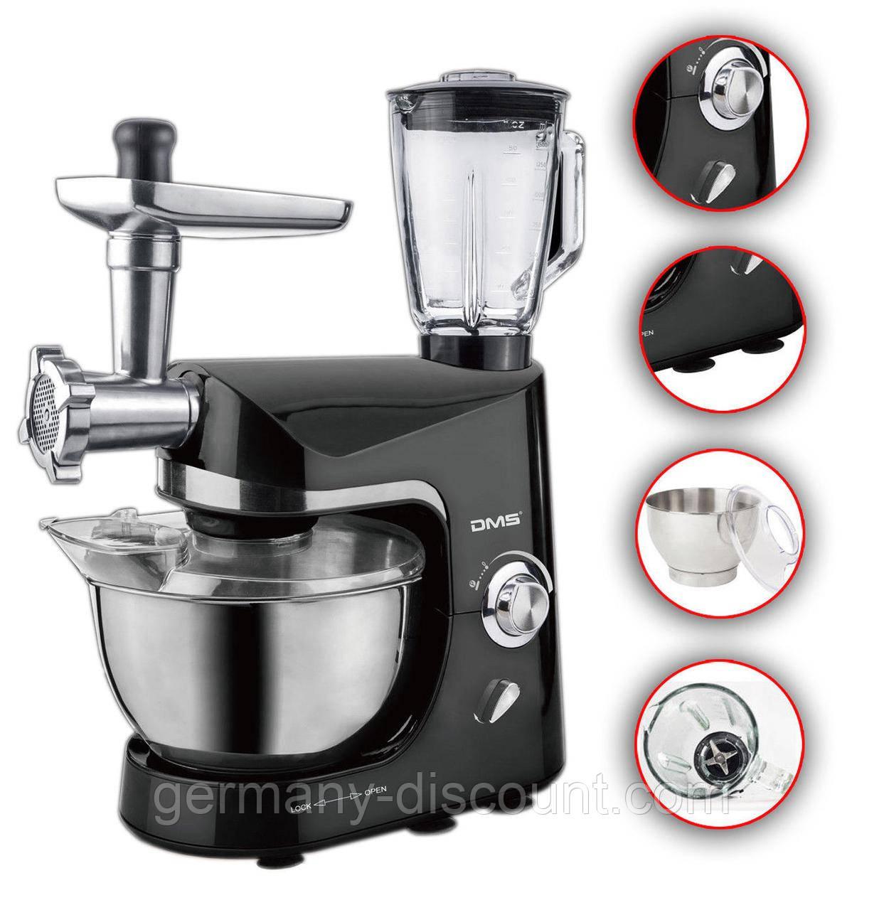 Профессиональный планетарный кухонный комбайн 3в1 DMS1800 Вт (Германия)