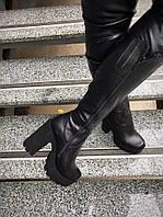 Зимние сапоги на толстом каблуке